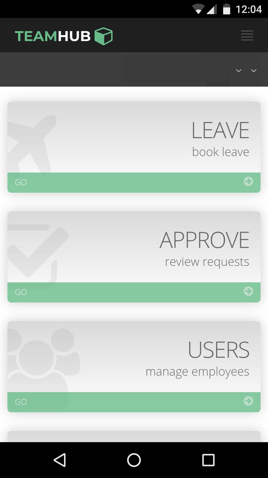 Mobile App — TeamHub 1 0 5 documentation
